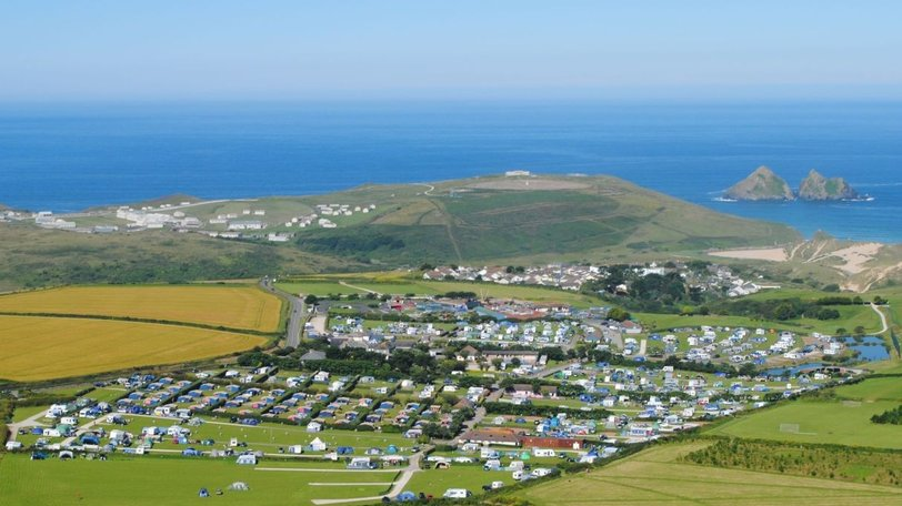 Aerial Photograph of the Park - Try five-star Trevornick Holiday Park for your camping and caravanning holidays in Cornwall (© Trevornick Holiday Park)