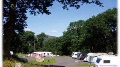 On the site - The entrance to the Llwyn yr Helm Caravan Park