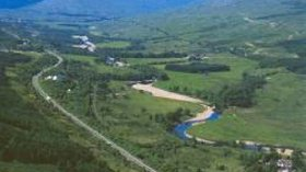 Aerial photo of the area near the caravan site