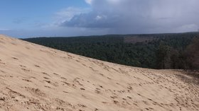Pyla sur Mer - dune du Pilat et Landes de Gascogne (© By Franck-fnba (Own work) [CC BY-SA 4.0 (http://creativecommons.org/licenses/by-sa/4.0)], via Wikimedia Commons (original photo: https://commons.wikimedia.org/wiki/File:Pyla_sur_Mer_-_dune_du_Pilat_et_Landes_de_Gascogne_-_2016a.jpg))