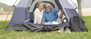 Adults only camping and caravan parks - Adults enjoying a campsite for adults only