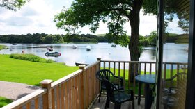 Beautiful view from one of the holiday homes - Loch Ken Holiday Park
