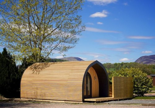 Photo of Camping pod: Hideout with Hot Tub