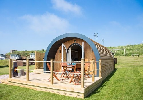 Photo of Camping pod: Beach Hideout with Hot Tub