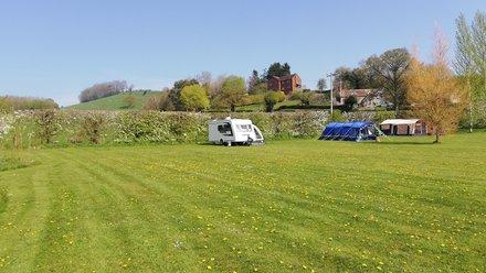 caravan and tents