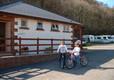 Touring field facilities at Cenarth Falls Holiday Park