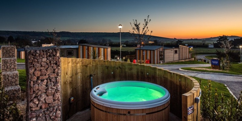 Staycations 2021 - Hot tub holidays at Whitecliff Bay Holiday Park, Isle of Wight