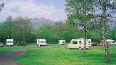 On the park - Tourers at Pandy Caravan Club site
