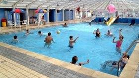The indoor pool at Heacham Beach