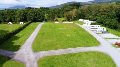 Greenery on the caravan site