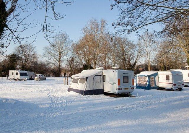 Winter caravanning