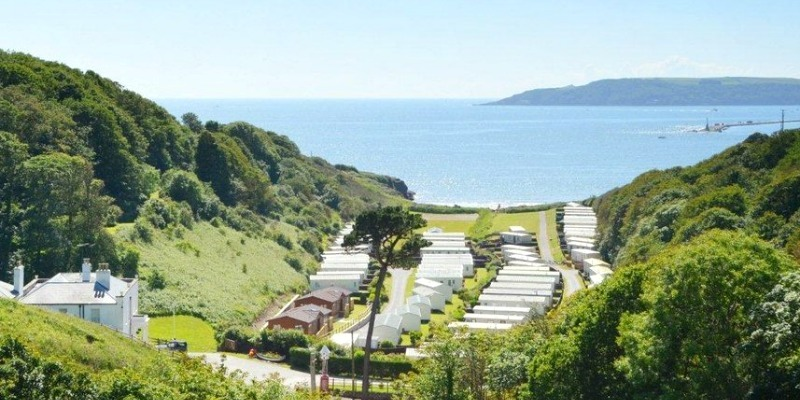 Valley and and the sea - Bovisand Lodge Holiday Park, Devon