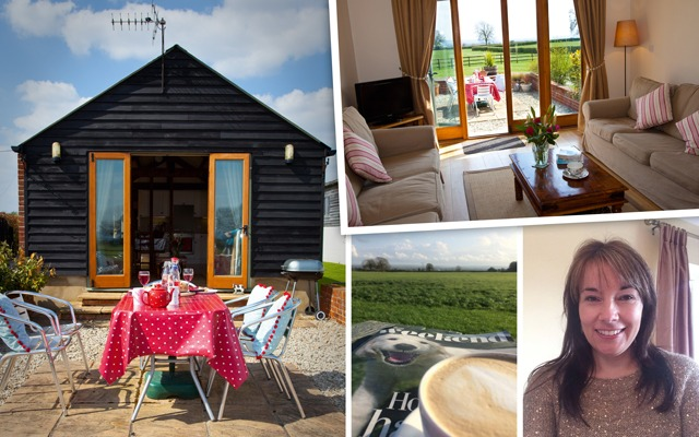 Hayley and the holiday cottages at Merkins Farm
