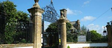 South Lytchett Manor, Dorset - Front gates at South Lytchett Manor