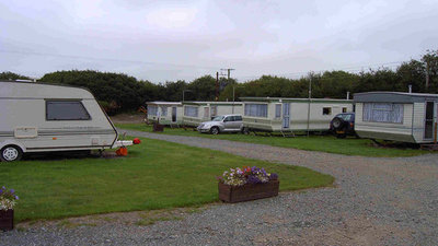 Photo of the touring field and static caravans