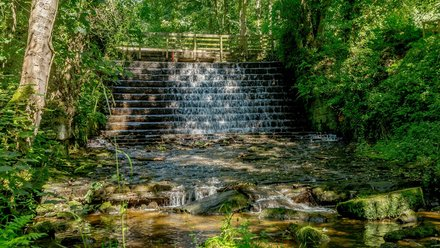 Yorkshire holidays - The waterfall at Cote Ghyll, North Yorkshire