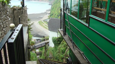 Visit Lynton from Sunny Lyn Holiday Park in Devon - Make Sunny Lyn Holiday Park in Devon your base for camping, motorhome and caravan holidays in Devon and enjoy the cliff railway from Lynton to Lynmouth (© Kate Taylor)