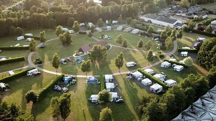 Aerial view_1 - Aerial view of the main camping area at Applewood Countryside Park