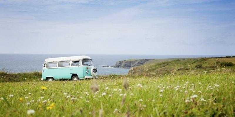VW camper van - Exploring the coast roads