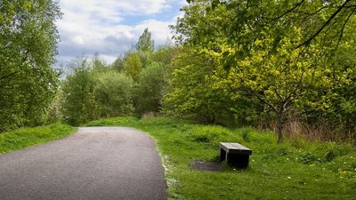 The cycle route passes through the Preston Junction Local Nature Reserve near the caravan park (© © Copyright Ian Greig (https://www.geograph.org.uk/profile/9857) and licensed for reuse (http://www.geograph.org.uk/reuse.php?id=3960201) under this Creative Commons Licence (https://creativecommons.org/licenses/by-sa/2.0/).)