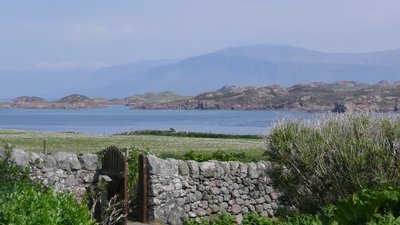 Lovely views of Isle of Iona near the campsite