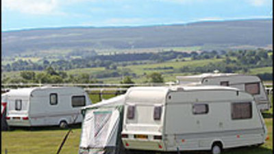 Picture of Hexham Racecourse Caravan Site, Northumberland, North of England - The view of the Hexham Racecourse Caravan Site