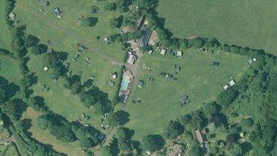 Campsite - aerial photograph