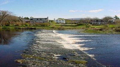 Cree Weir area near the caravan site