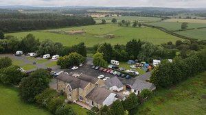 Holidays In Morpeth - Aerial Of The Railway Inn Country Cottages & Caravan Park