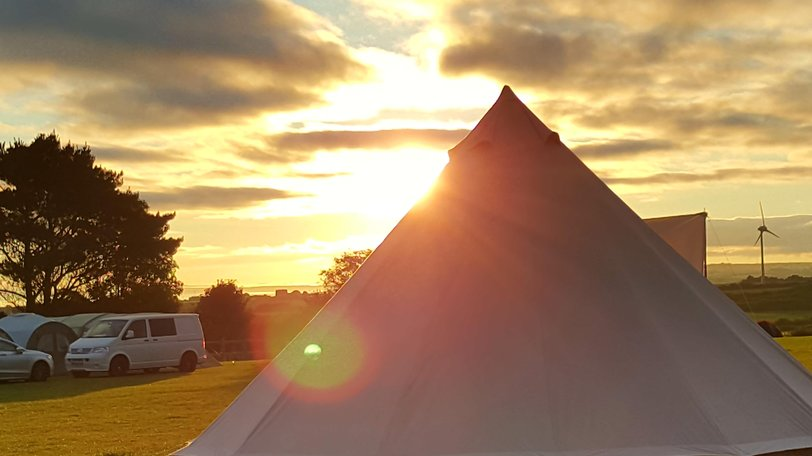 Tent Field on the holiday park - Tent field - Sunrise