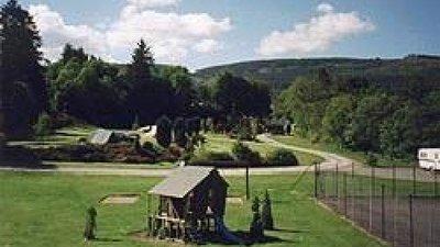 On the caravan site of Black Rock Caravan & Camping Park, Highland