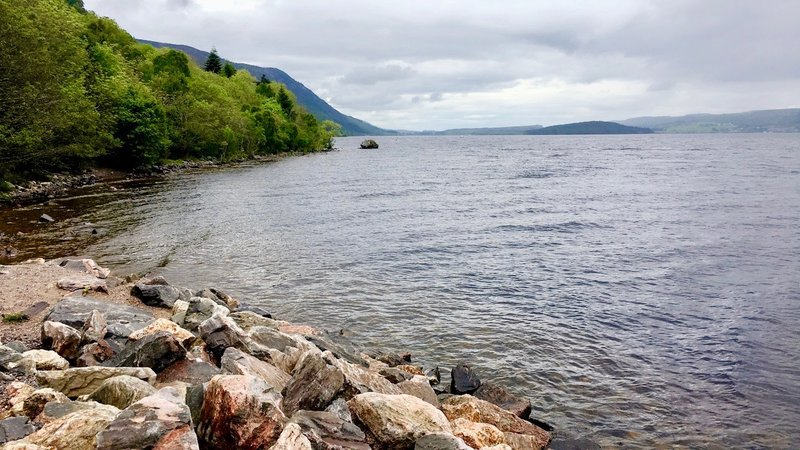 Go camping near Loch Ness - Here is a nice view from Loch Ness. Do you see the monster?