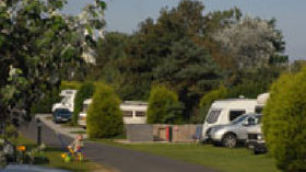 Picture of tourers at Seacroft Caravan Club Site, Norfolk, East England