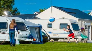 Our touring pitches on the caravan park