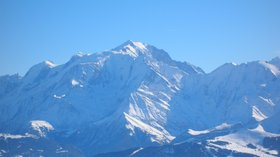 Nearby: Mt Blanc from la Balme (© By TwoWings (Own work) [Public domain], via Wikimedia Commons)