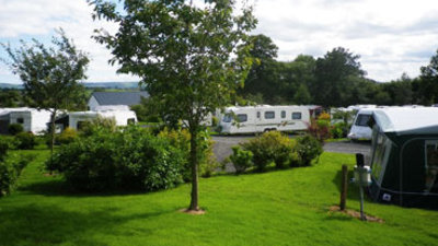 On the park - For quiet camping holidays in mid-Wales, consider 5-star award-winning adults-only Rhyd-y-Groes Touring & Camping Park near Welshpool in the Welsh Borders  (© Rhyd-y-Groes Touring & Camping Park)