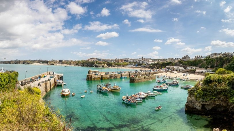 Cornwall holidays - Newquay Harbour near Trevella Park, Cornwall