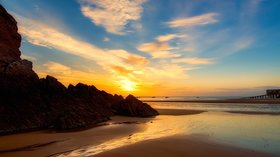 Pembrokshire holidays - Tenby beach near Allensbank Holiday Park