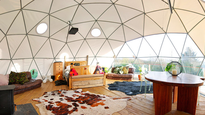 Interior of the glamping accomodation