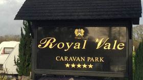 Entrance of the Royal Vale  Caravan Park