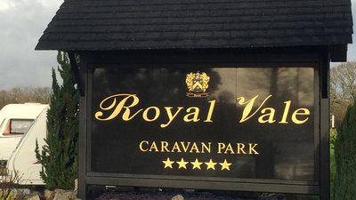 Entrance of the Royal Vale  Caravan Park