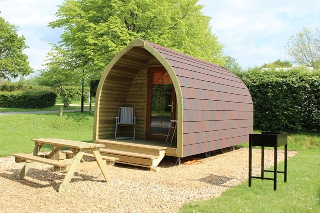 Camping pods at Sandy Balls