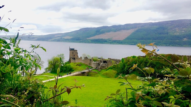 Try camping near Urquhart Castle in the Highlands - Urquhart Castle next to the loch.