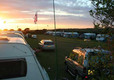 Sunset on the caravan site
