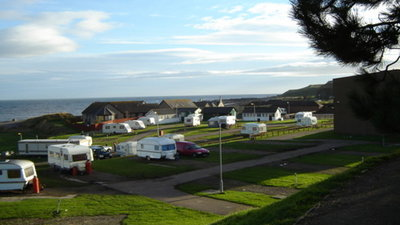 Tourers on Inverbervie Caravan Park - Nice picture showing the beauty of the Inverbervie Caravan Park and its surroundings