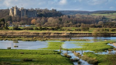 Arundel Castle - West Sussex (© By hehaden from UK [CC BY-SA 2.0  (https://creativecommons.org/licenses/by-sa/2.0)], via Wikimedia Commons (original photo: https://commons.wikimedia.org/wiki/File:Arundel_Castle_-West_Sussex,_England-2Feb2014.jpg))