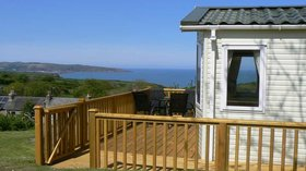 Clear sea view from Castle Farm Caravan Park  - Castle Farm, occupies a prime elevated position between the coast and the Preseli hills.  Most pitches have sea-views over to Fishguard Harbour and beyond.