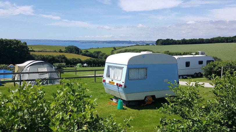 Campsite sea view