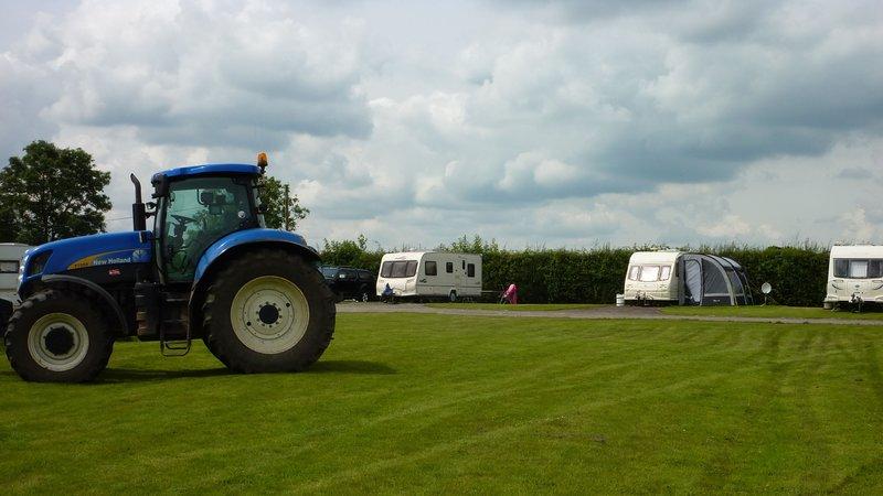Camping pitches at Merkins Farm