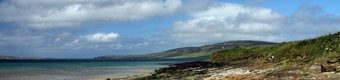 Beach near Evie in Orkney in summer close to the certificated location caravan park